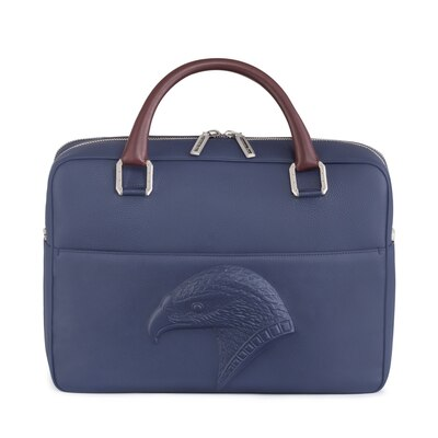 Handmade calfskin leather business bag BR00 Size: One Size