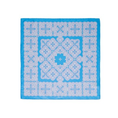 Hand printed silk handkerchief Colour: FZSR8_10A Size: One Size