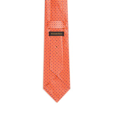 Hand printed silk tie Colour: 27053_008 Size: One Size