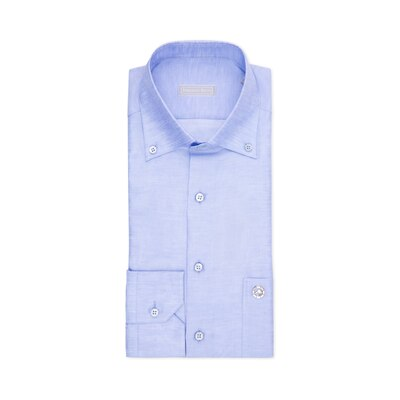 Camicia popeline fatta a mano Colore: R1653_002 Taglia: 42