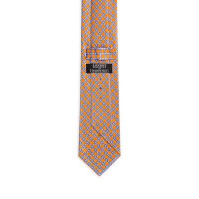 Luxury hand printed silk tie Colour: 27010_009 Size: One Size