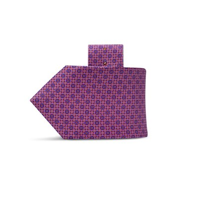 Luxury hand printed silk tie 27018_005 Size: One Size