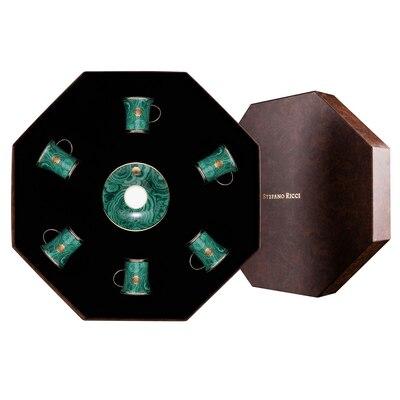 Coffee cups gift box royal malachite 6037 Size: One Size
