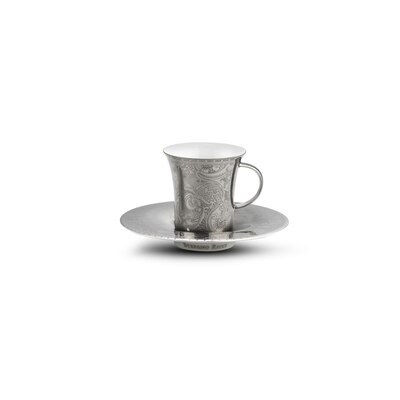 Coffee cups gift box platinum fine paisley Colour: 7036 Size: One Size