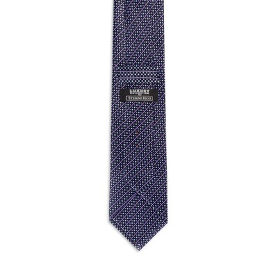 Luxury hand printed silk tie 27007_005 Size: One Size