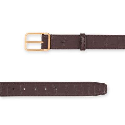 Handmade crocodile belt Colour: M022 Size: 110