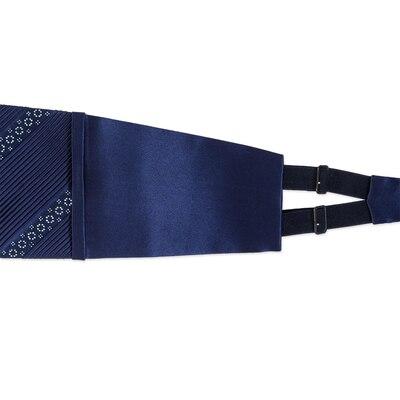 Pleated silk cummerbund with swarovski Colour: SW300_011 Size: XL