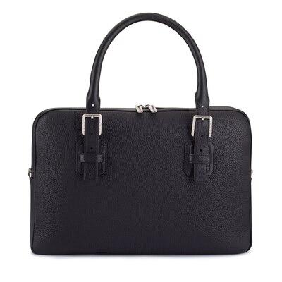 Handmade calfskin business bag Colour: N999 Size: One Size