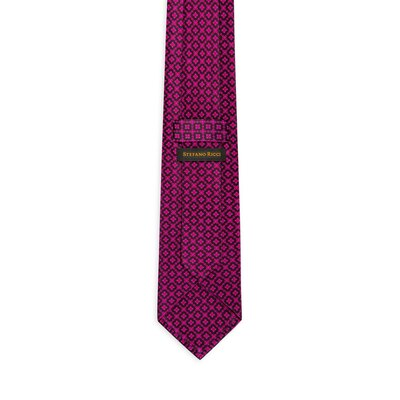 Hand printed silk tie Colour: 27030_001 Size: One Size