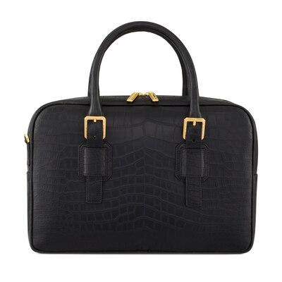 Handmade Crocodile Leather Business Bag N999 Size: One Size