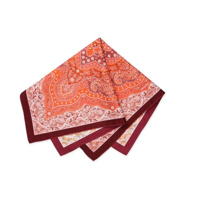 Hand printed silk handkerchief Colour: 87011_022 Size: One Size