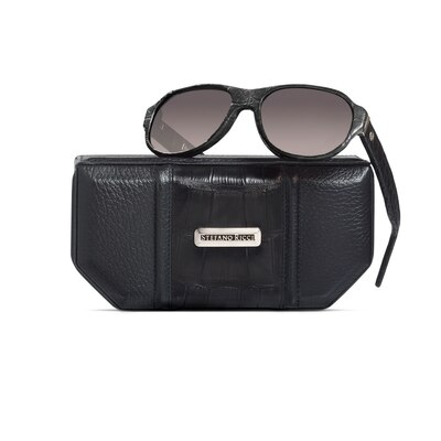 Hand-stitched crocodile leather sunglasses N999 Size: One Size