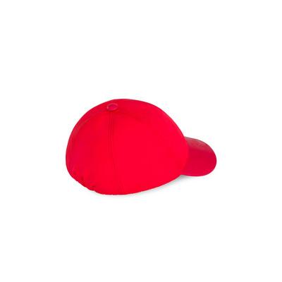 Silk and calfskin baseball cap Colour: R016 Size: S