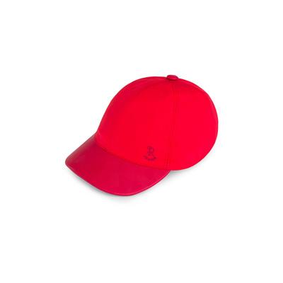 Silk and calfskin baseball cap R016 Size: L