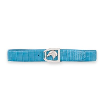 Handmade crocodile belt B018 Size: 100