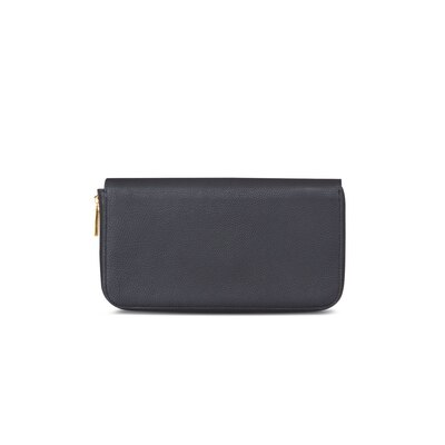 Leather zip pouch N999 Size: One Size