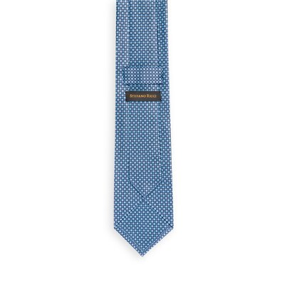 Hand printed silk tie 27041_001 Size: One Size