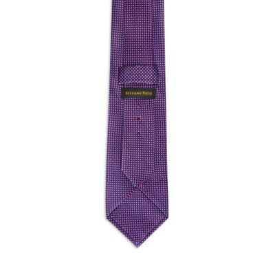 Hand printed silk tie Colour: 27041_005 Size: One Size