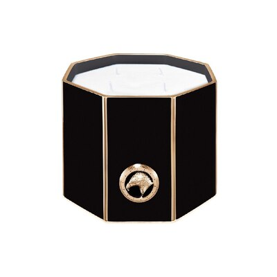Black & gold shiny large octagonal scented candle Colour: 1036 Size: One Size