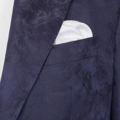 Handmade cotton pocket square R1802_001 Size: One Size