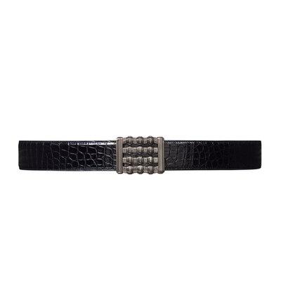 Handmade diamante crocodile leather belt Colour: N999 Size: 110
