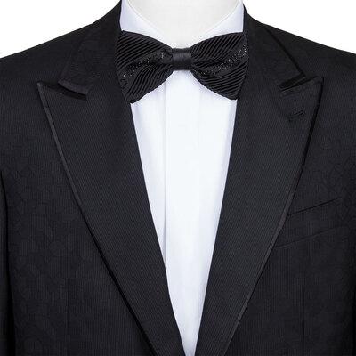 Handmade silk bow tie Colour: SW281_001 Size: One Size