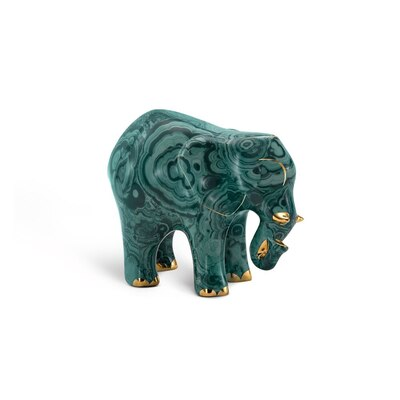 Elefante piccolo in porcellana royal malachite