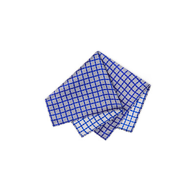 Hand printed silk tie set 27025_006 Size: One Size