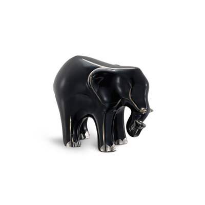Platinum black small porcelain elephant ornament Colour: 7036 Size: One Size