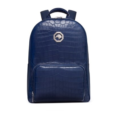 Handmade crocodile and calfskin leather backpack Colour: B049 Size: One Size