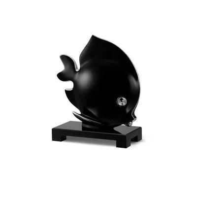 Platinum black large porcelain angel fish ornament Colour: 7036 Size: One Size