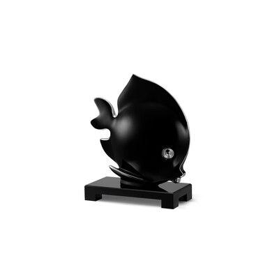 Platinum black small porcelain angel fish ornament Colour: 7036 Size: One Size