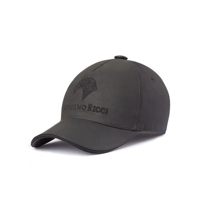 Silk and Lambskin Leather Baseball Cap Colour: N999 Size: XXL