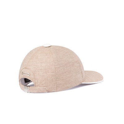 Baseball Cap with Lambskin Leather Piping Colour: 1019 Size: S