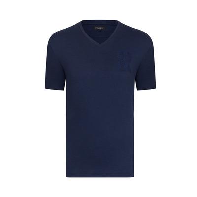 Cord crew neck t-shirt Colour: B001 Size: 5XL