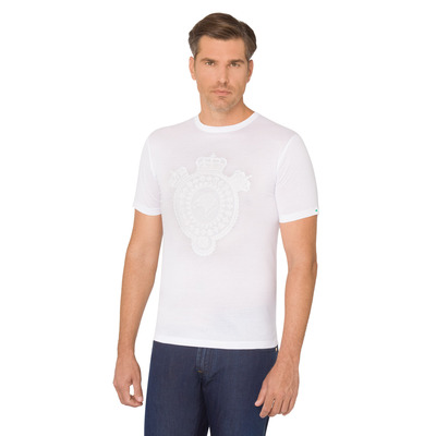 Crown motif crew neck T-shirt Colour: W000 Size: XL