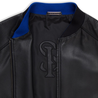 Deerskin leather blouson