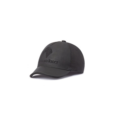 SILK AND LAMBSKIN LEATHER BASEBALL CAP Colour: N999 Size: M