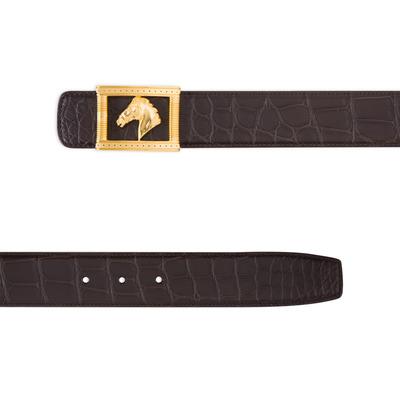 Matted Crocodile Leather Belt Colour: M019 Size: 90