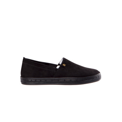 Suede and Calfskin Leather Slip on Sneakers Colour: N999 Size: 10