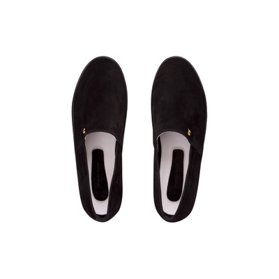Suede and Calfskin Leather Slip on Sneakers