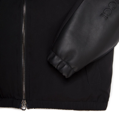Silk and Lambskin Leather Hooded Blouson Colour: N999 Size: 8