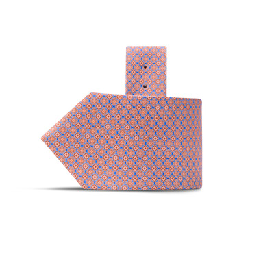 Luxury Hand Printed Silk Tie Colour: 35005_010 Size: One Size