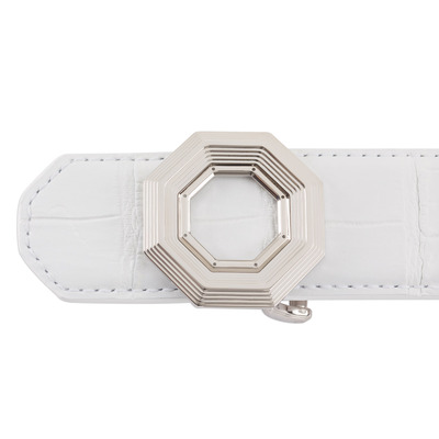 Matted Crocodile Leather Belt Colour: W007 Size: 105