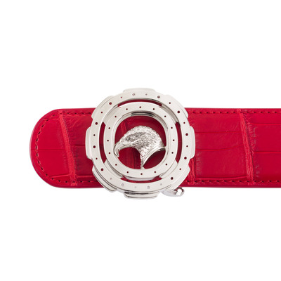 Matted Crocodile Leather Belt Colour: R020 Size: 105