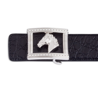 Matted Crocodile Leather Belt Colour: N999 Size: 90