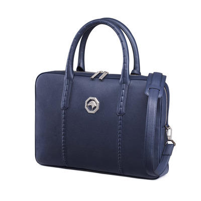 Handmade Business Bag in Calfskin Leather Colour: B013 Size: One Size