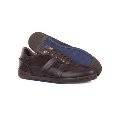 Calfskin leather sneakers Colour: M019 Size: 9