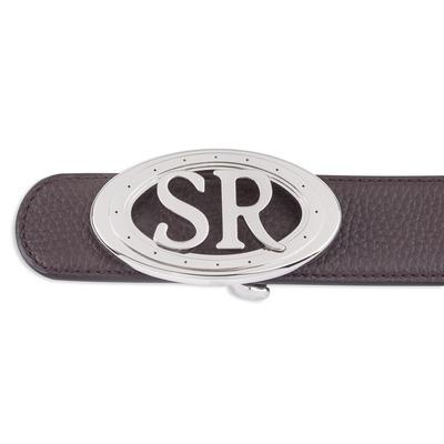 Deerskin leather belt Colour: M019 Size: 110
