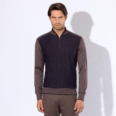 Zip mockneck sweater Colour: F20352_3237 Size: 56